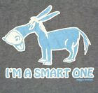 Stiks N Stones Mens M I'm A Smart One Honor Roll Funny Donkey Nerd T Shirt New