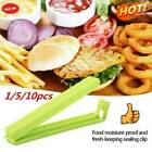 1/5/10xfood Bag Clips Reusable Tie Plastic Storage Freezer Sealing Random T1a0