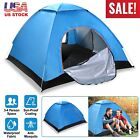 4 Person Instant Setup Pop Up Tent Sun Shelter +2 Mosquito Net Door Carrying Bag