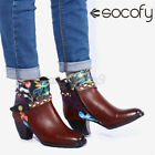 SOCOFY Womens Cow Leather Fashion Ankle Boots Wedding Party Zipper Shoes Braide