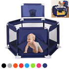 Foldable Baby Playpen Playing House Interactive Kids Toddler Room With Safety