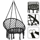 Cotton Hammock Seat Hanging Chair Tassel Deluxe Swing Chair Max Load 120kg