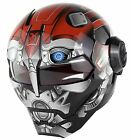 DOT Approved Red/Gray Android Motorcycle Helmet