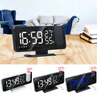 Digital LED Time Projector Snooze Alarm Clock USB FM Radio Temperature Humidity