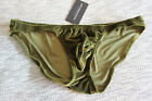 N2N Bodywear Men Mod green Velvet Dream bikini underwear Size L XL