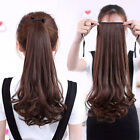 Girls Hair Extension Piece Thick Long Curly Extension As Human Hairpiece Cosplay
