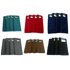 Set of 4 Microfiber Polyester Kitchen Hand Dish Towels Windowpane Solid Color
