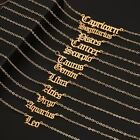 Horoscope Zodiac Star Sign Pendant Old English Necklace Gold Jewellery Chain