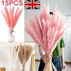 15pc Large Natural Dried Pampas Grass Reed Flower Bunch Bouquet Home Party Decor