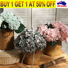6heads Artificial Fake Hydrangea Flowers Diy Wedding Home Decor Bridal Bouquet/