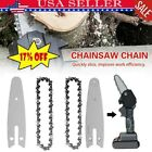 4Inch Steel Chainsaw Chain/Guide Electric Replacement Chains Woodworking Cutter.