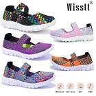 Womens Slip On Sandals Trainers Ladies Casual Beach Woven Elasticated Shoes Size