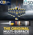 OB1 Waterproof Adhesive Sealant Builder Construction Hybrid Silicone ALL COLOURS