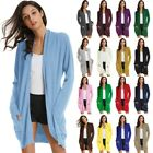 GK Ladies Plus Size Knitted Cardigan Long Sleeve Loose Fit Outwear Office Coat