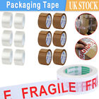 Brown/ Fragile/ Clear Parcel Tape Packing Packaging Box Sealing 48MM x 66M Rolls