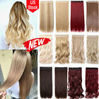 Thick Wavy Curly Clip In On Hair Extensions 3/4 Head 5-Clips Hairpieces TBN USA