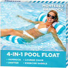 4-in-1 Pool Hammock Float Swimming Lounge Chair Inflatable Water Floating Bed