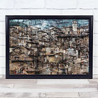 Scanno Graphic Village Tower Clock Time Wall Art Print