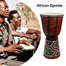 More images of 6in African Djembe Drum Hand-Carved Solid-Wood Goat-Skin Traditional L2P6