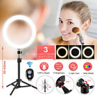 8/13'' LED Dimmable Ring Light 24'' Tripod Phone bluetooth Selfie Live w/ Mirror