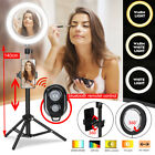 """8.66"""" Dimmable Ring Light Phone Camera bluetooth Selfie Makeup Live w/ Sta @"""