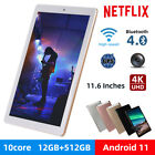 """10.1"""" Wifi Tablet 12+512g Tablet Android 11 Pad 10 Core Netflix With Dual Camera"""