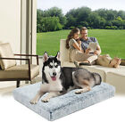 Orthopedic Fluffy Plush Faux Fur Dog Bed Foam Pet Crate Bed with Removable Cover