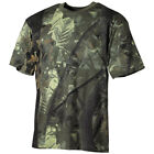 Hunting Fishing Trapper Camouflage Top Camo Mens T-Shirt Real Tree Green Tee