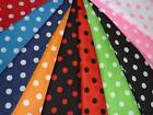 Polka Dots spots Print retro dress Patchwork quilting Fabric various colours