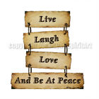Live Laugh Love Be at Peace weathered boards T-Shirt
