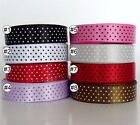 "3/8""9mm Swiss Dots Multi-Colored Satin Ribbon Lot 5 /25/100 Yard Craft Sewing"