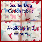 "17"" sq Scottie Dog soft cotton curtain fabric material"