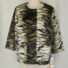 Ruby Rd Road Olive Animal Print Jacket 16W 18W NWT