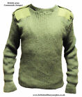 BRITISH ARMY SURPLUS WOOL COMMANDO PULLOVER - GRADE 1