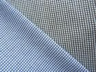 TINY BLUE CHECK & BLACK CHECK PRINT COTTON FABRICS
