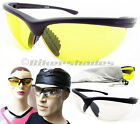 Night Vision Safety Glasses Yellow lens Cycling Driving Riding Shooting Hunting