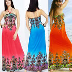 New Bohemian Paisley Prints Sexy Tube Summer Beach Maxi Dress