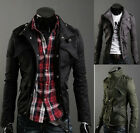 Men Casual Top Designed  Slim Fit Zip Jacket Coat 3color M L XL XXL E213