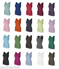 Bella Ladies Size S-2XL Womens 1X1 Rib 100% Cotton Tank Top T-Shirt NEW 1080 Tee