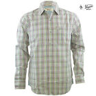 Brand New Mens Penguin Woven Long Sleeve Check Whisper White Shirt