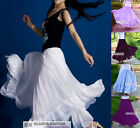 New Womens Ladies Full Circle Chiffon Skirt Long Skirt XS ~ 3XL #GF0689