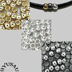 SPACER BEADS 3mm SMOOTH SEAMLESS 2mm HOLE 100pc