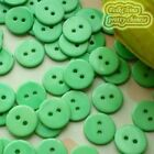 14mm Green Flat Round Buttons Sewing Scrapbooking Cardmaking Craft