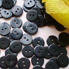 14mm Black Flat Round Buttons Sewing Scrapbooking Cardmaking Craft