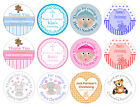 48 personalised stickers for Christening / Naming Day