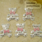 White Cute Bear Sequin Appliques Padded Craft Sewing Scrapbooking Trim XHCT