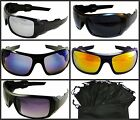 Sport Oak Sunglasses Mens Womens Biker Fishing Golf Mirror Gold Blue Dark Smoke
