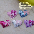 Mixed Heart With Bow Sequin Appliques Padded Craft Sewing Scrapbooking Trim APQF