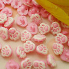Pink Paw 10mm Plastic Buttons Sewing Scrapbooking Collectable Craft BPB