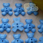 Blue Little Bear 13mm Plastic Buttons Sewing Scrapbooking Collectable Craft